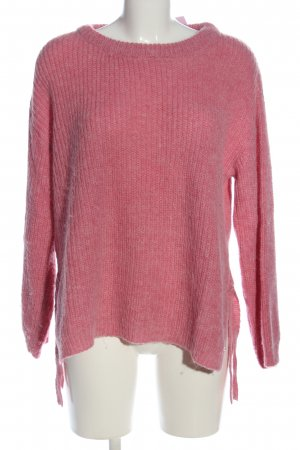 Pepe Jeans Rundhalspullover pink Zopfmuster Casual-Look