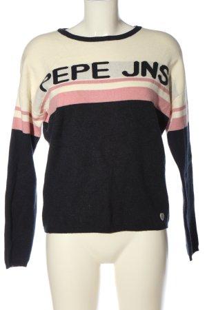 Pepe Jeans Rundhalspullover Schriftzug gedruckt Casual-Look