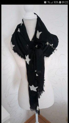 Pepe Jeans Schal schwarz mit Sternen