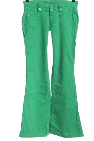 Pepe Jeans Pantalone a zampa d'elefante verde stile casual