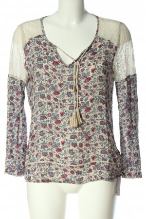 Pepe Jeans Schlupf-Bluse Blumenmuster Casual-Look