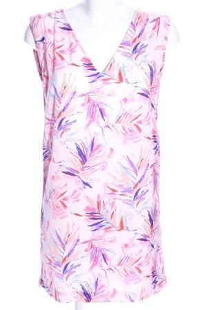 Pepe Jeans schulterfreies Kleid pink-lila abstraktes Muster Casual-Look