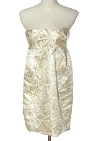 Pepe Jeans schulterfreies Kleid goldfarben Allover-Druck Elegant
