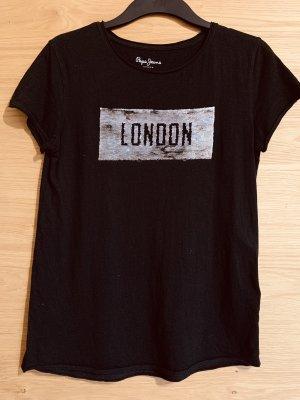 Pepe Jeans T-shirt noir-argenté