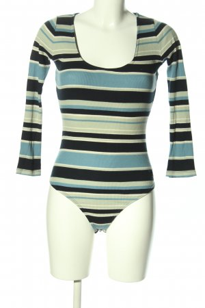 Pepe Jeans Shirtbody blau-schwarz Allover-Druck Casual-Look
