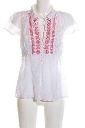 Pepe Jeans Camisa tipo túnica blanco-rojo Mezcla de patrones look casual
