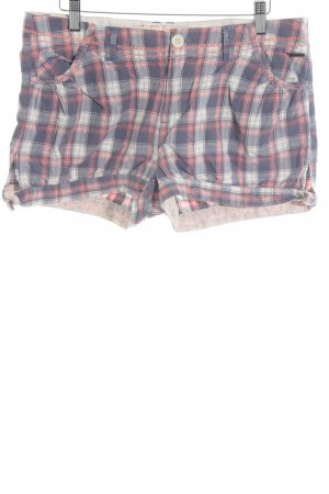 Pepe Jeans Shorts check pattern Logo application (metal)