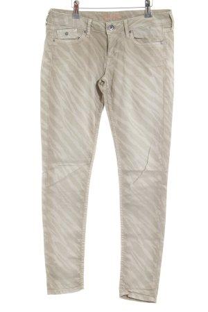 Pepe Jeans Skinny Jeans wollweiß-hellgrau Allover-Druck Casual-Look