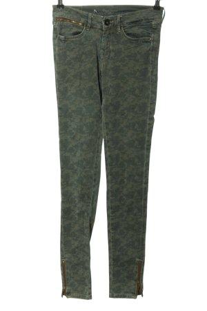 Pepe Jeans Skinny Jeans grün-hellgrau Camouflagemuster Casual-Look