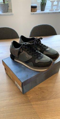 Pepe Jeans Sneakers met veters zwart-grijs