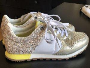 Pepe Jeans Sneaker con tacco oro-bianco