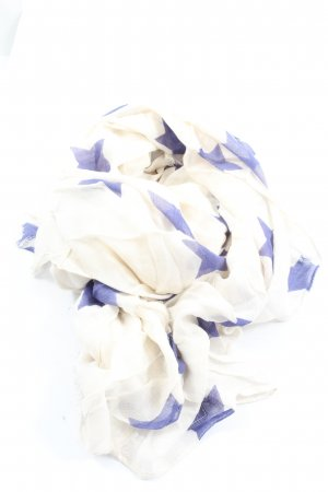Pepe Jeans Summer Scarf white-blue abstract pattern elegant