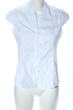 Pepe Jeans Blouse met opstaande kraag wit zakelijke stijl