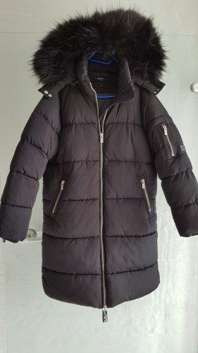 Pepe Jeans Abrigo de plumón negro tejido mezclado