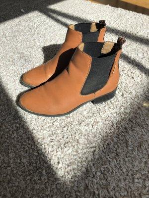 Pepe Jeans Stiefeletten ankle chelsea boots Leder congnac