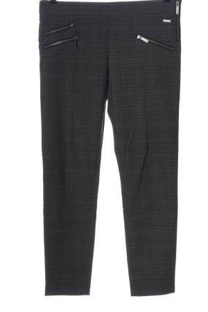Pepe Jeans Spodnie materiałowe czarny-jasnoszary Wzór w kratkę W stylu casual