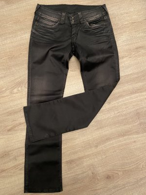 Pepe Jeans Low-Rise Trousers black cotton
