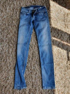 Pepe Jeans London Jeansy z prostymi nogawkami błękitny