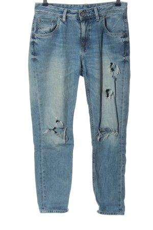 Pepe Jeans Jeansy typu boyfriend niebieski W stylu casual