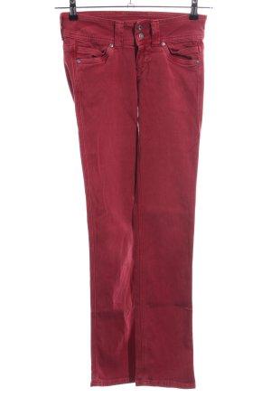 Pepe Jeans Jeans coupe-droite rouge style décontracté