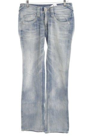 Pepe Jeans Jeans coupe-droite bleu azur lavage à l'acide