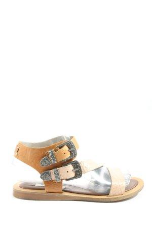 Pepe Jeans Sandalias de playa blanco puro-marrón look casual