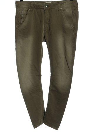 Pepe Jeans Spodnie ze stretchu khaki W stylu casual