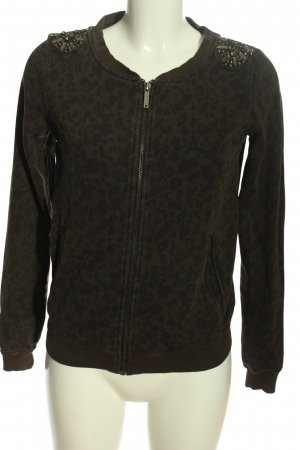 Pepe Jeans Strickpullover bronzefarben-schwarz Animalmuster Casual-Look