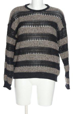 Pepe Jeans Strickpullover braun-schwarz Streifenmuster Casual-Look
