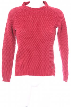 Pepe Jeans Strickpullover dunkelrot Casual-Look