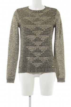 Pepe Jeans Strickpullover goldfarben-schwarz Casual-Look