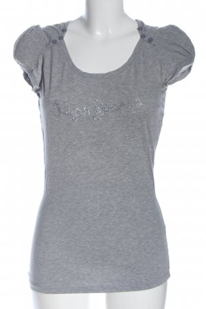 Pepe Jeans Camicia maglia grigio chiaro puntinato stile casual