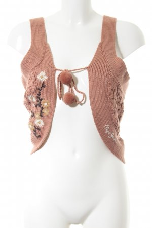 Pepe Jeans Strickweste nude Zopfmuster Casual-Look