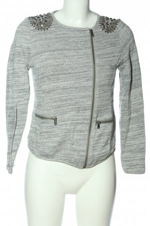 Pepe Jeans Blazer de tela de sudadera gris claro moteado look casual