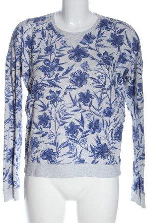 Pepe Jeans Sweatshirt gris clair-bleu imprimé allover style décontracté