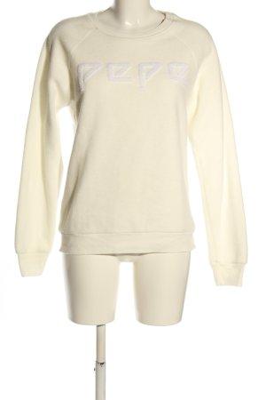 Pepe Jeans Sweatshirt creme Schriftzug gedruckt Casual-Look