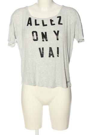 Pepe Jeans T-Shirt hellgrau-schwarz meliert Casual-Look