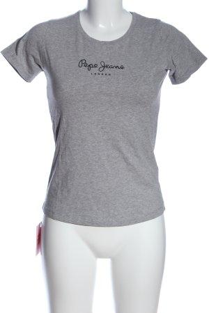 Pepe Jeans T-shirt grigio chiaro-nero caratteri stampati stile casual