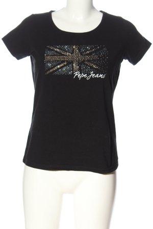 Pepe Jeans T-Shirt schwarz Motivdruck Casual-Look
