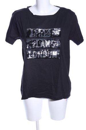 Pepe Jeans T-Shirt schwarz Schriftzug gedruckt Casual-Look