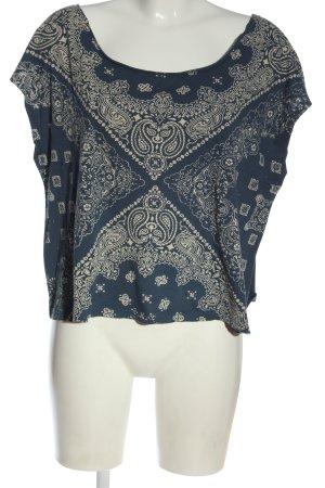 Pepe Jeans T-Shirt blau-goldfarben Allover-Druck Casual-Look