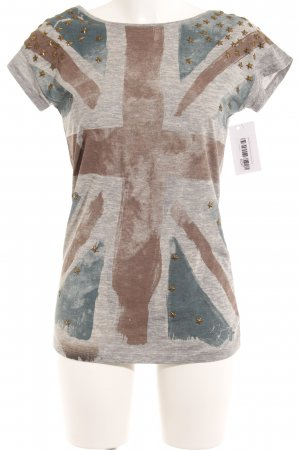 Pepe Jeans T-Shirt Allover-Druck Nietenelemente