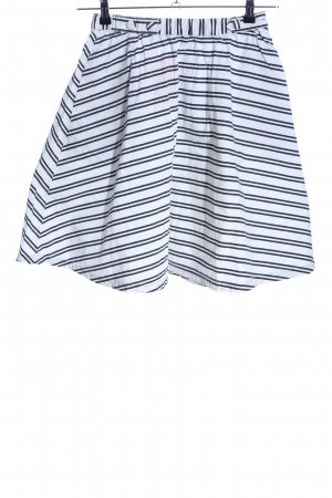 Pepe Jeans Tellerrock weiß-schwarz Streifenmuster Casual-Look