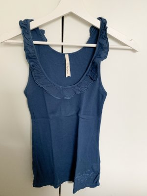 Pepe Jeans Basic topje petrol-donkerblauw