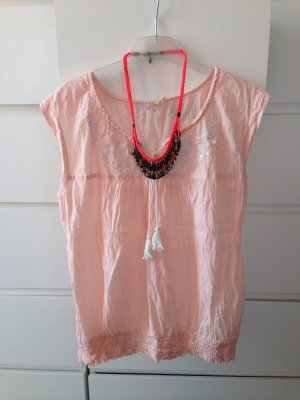 Pepe Jeans Top zalm-wit