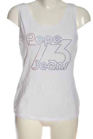 Pepe Jeans Top met spaghettibandjes wit casual uitstraling