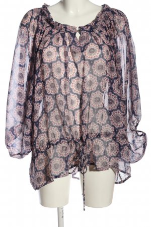 Pepe Jeans Transparenz-Bluse Allover-Druck Casual-Look