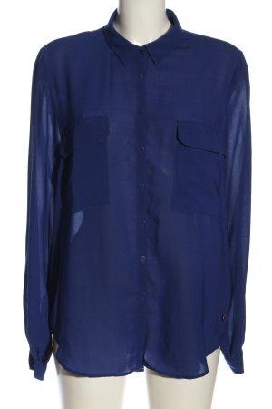 Pepe Jeans Blusa transparente azul look casual