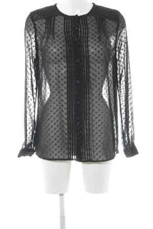 Pepe Jeans Transparenz-Bluse schwarz Punktemuster Elegant