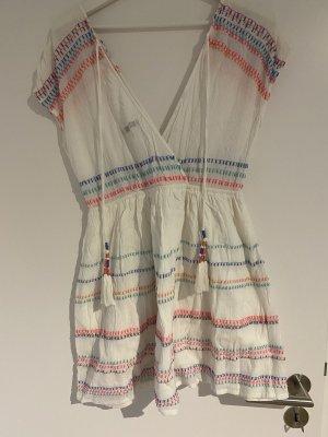 Pepe Jeans Sukienka plażowa biały-różowy neonowy
